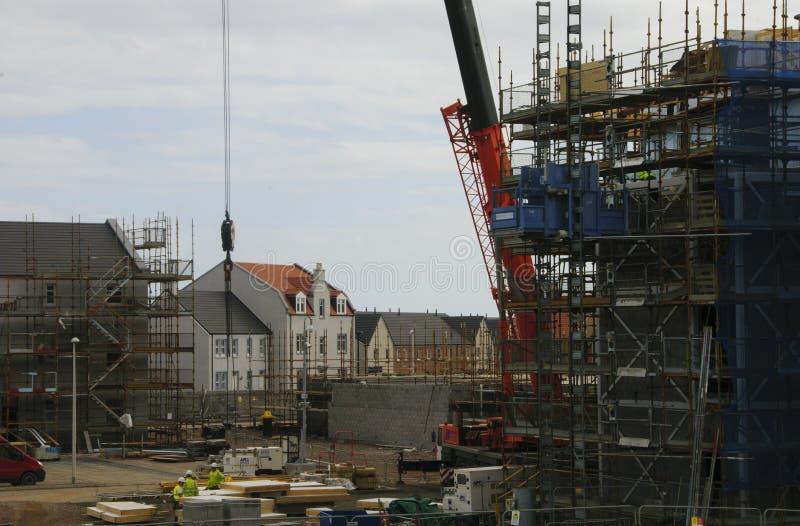 Construção de habitações Aberdeen Escócia Reino Unido fotos de stock royalty free
