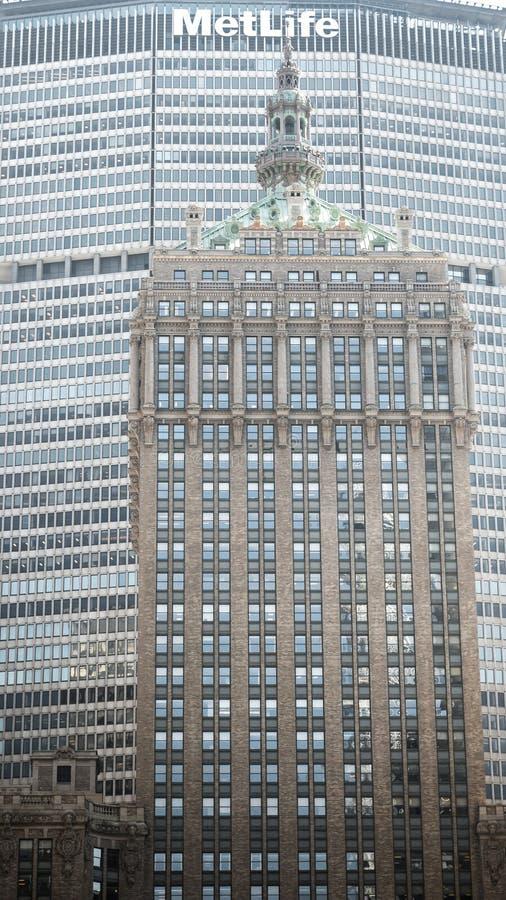 A construção de Helmsley em New York fotografia de stock