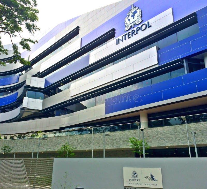 Construção de Interpol, Singapura foto de stock