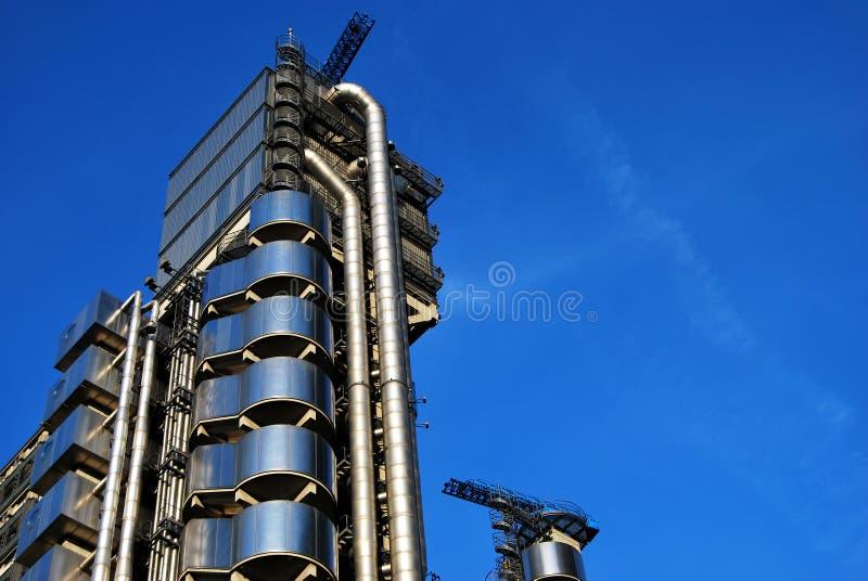 Construção de Lloyds em Londres, o interior - para fora construindo fotografia de stock royalty free