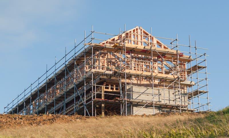 Construção de madeira da casa privada imagens de stock royalty free
