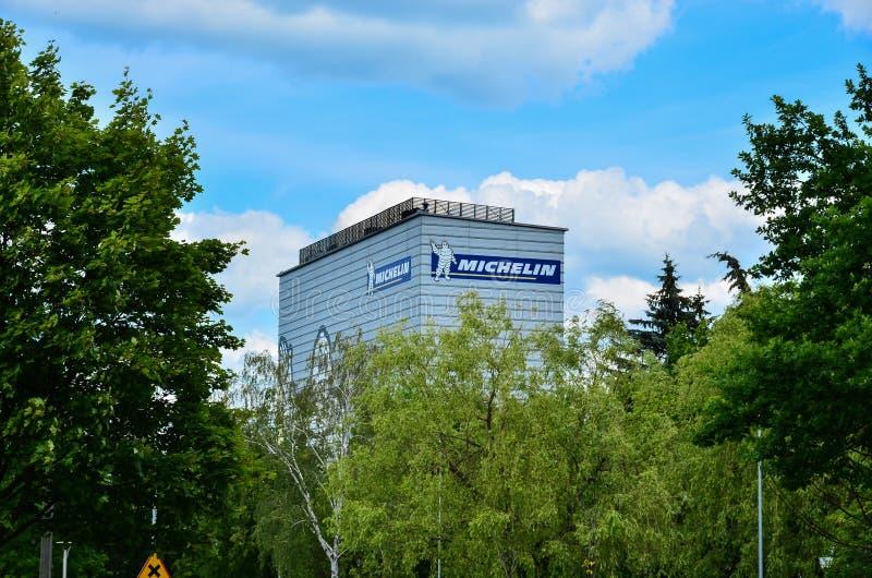 Construção de Michelin em Olsztyn fotos de stock royalty free