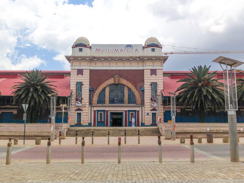Construção de MuseuMAfricA - Joanesburgo, África do Sul foto de stock royalty free