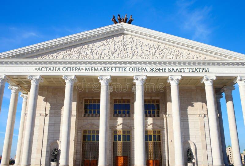 Construção de Opera em Astana imagem de stock royalty free