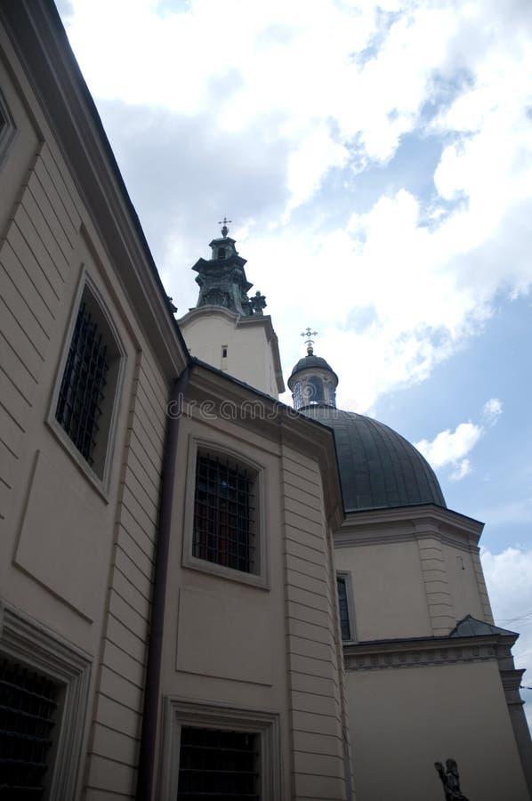 Construção de pedra velha da igreja da transfiguração foto de stock