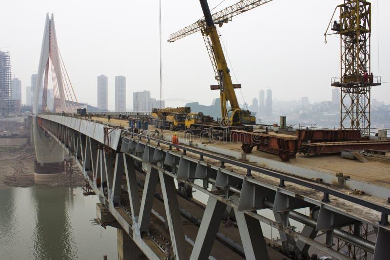 Construção de ponte foto de stock