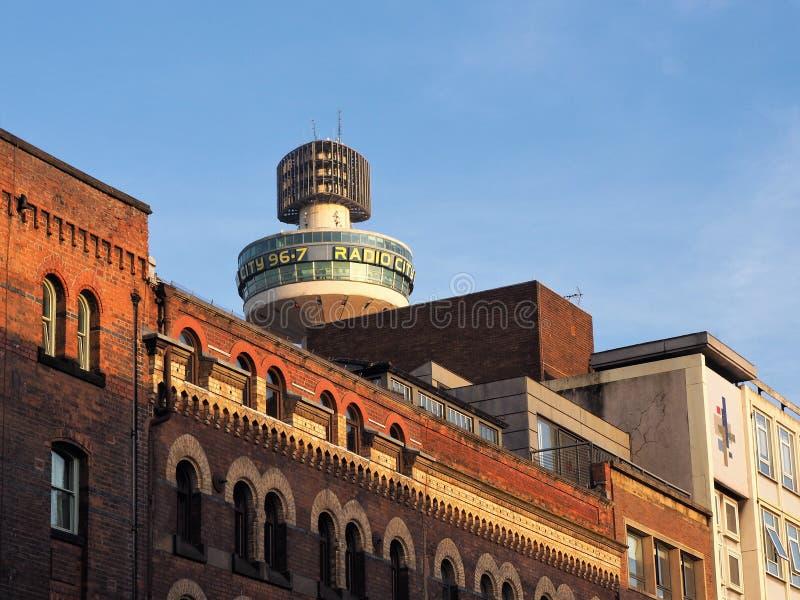 Construção de rádio da cidade, Liverpool Estação de rádio independente imagem de stock