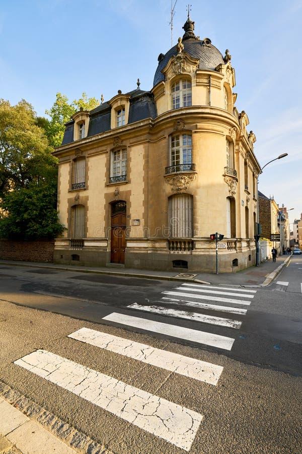 Construção de Rennes, França, Brittany foto de stock