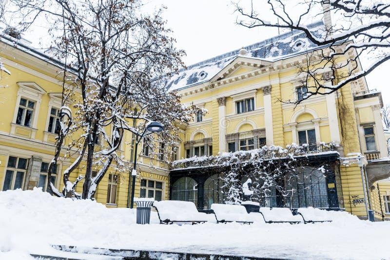 A construção de Royal Palace anterior Hoje Art Gallery nacional em Sófia fotos de stock