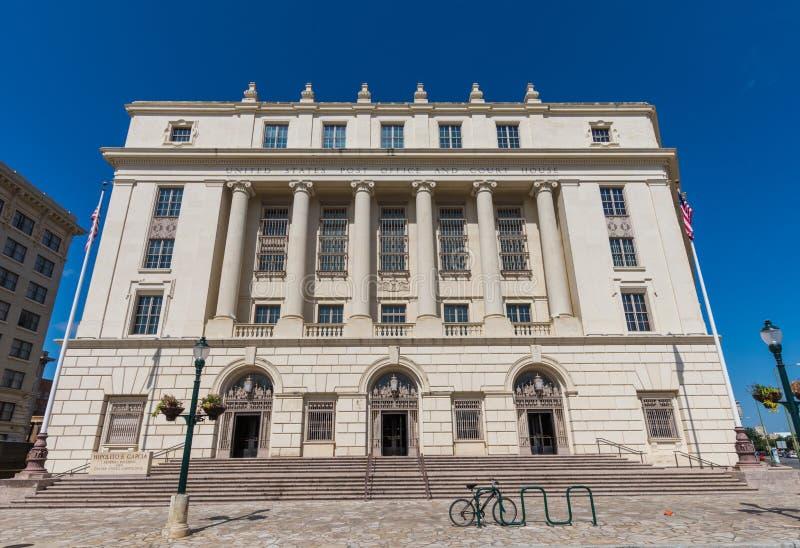 Construção de serviço postal do Estados Unidos em San Antonio Texas foto de stock royalty free