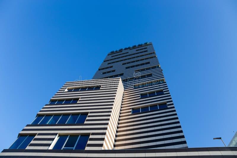 Construção de Siemens, as matrizes novas de Genoa Siemens Italy/arranha-céus/construção/negócio/comércio imagens de stock royalty free