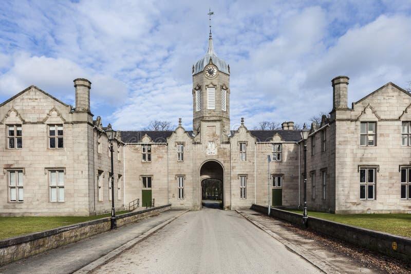Construção de Simpson em Huntly em Escócia imagens de stock royalty free