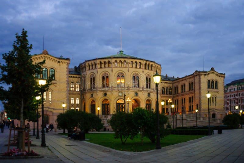 A construção de Storting, Oslo fotos de stock royalty free