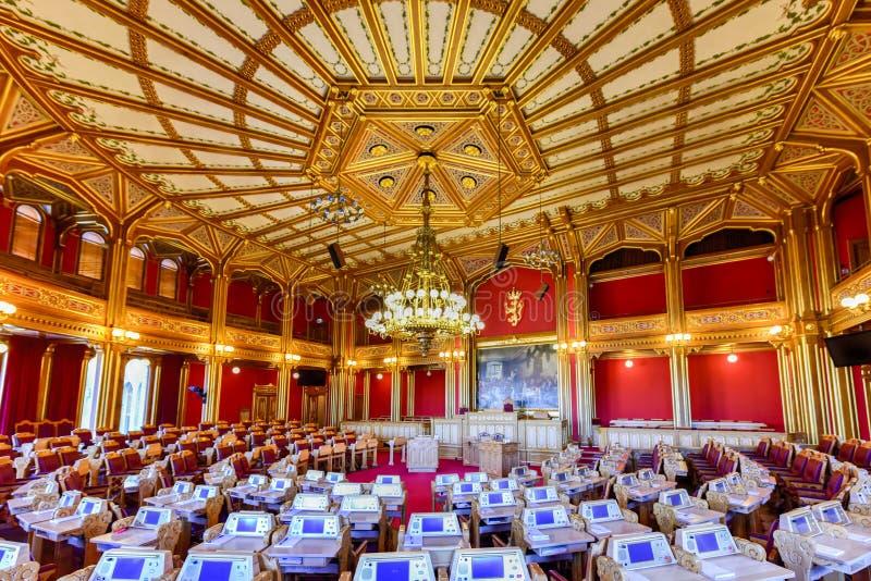 Construção de Storting - Oslo, Noruega imagem de stock royalty free