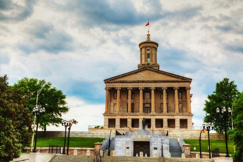 Construção de Tennessee State Capitol em Nashville imagens de stock royalty free