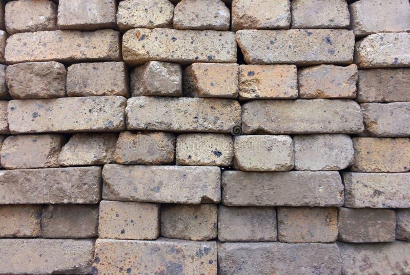 Construção de tijolo, textura conservada em estoque do fundo Telha dos tijolos do russo fotografia de stock royalty free