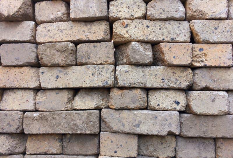 Construção de tijolo, textura conservada em estoque do fundo Telha dos tijolos do russo imagem de stock