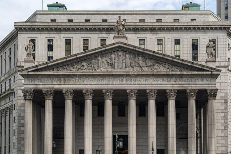 Construção de tribunal de New York foto de stock