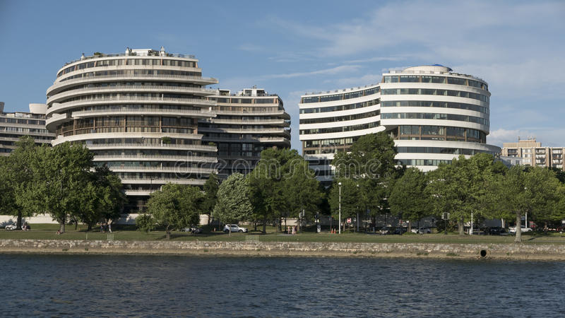 Construção de Watergate fotos de stock royalty free