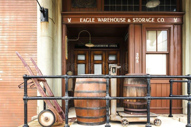 Construção dentro do estúdio universal, réplica do estilo ocidental selvagem do vaqueiro imagem de stock royalty free