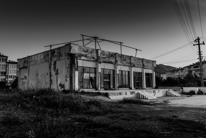 Construção Desolated fotografia de stock