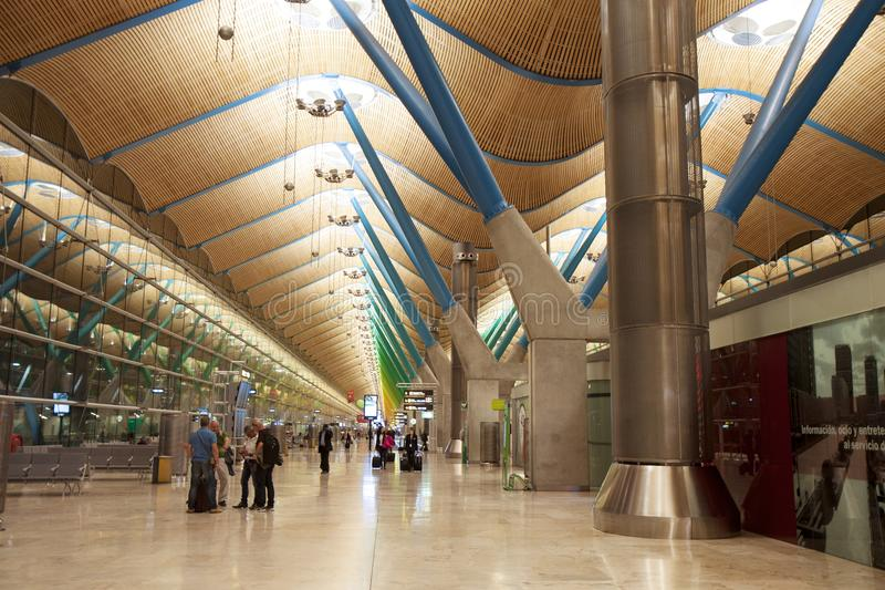 Construção do aeroporto Salão de espera foto de stock