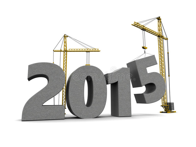 Construção do ano novo ilustração royalty free