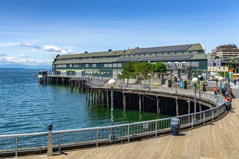 Construção do aquário de Seattle imagem de stock royalty free
