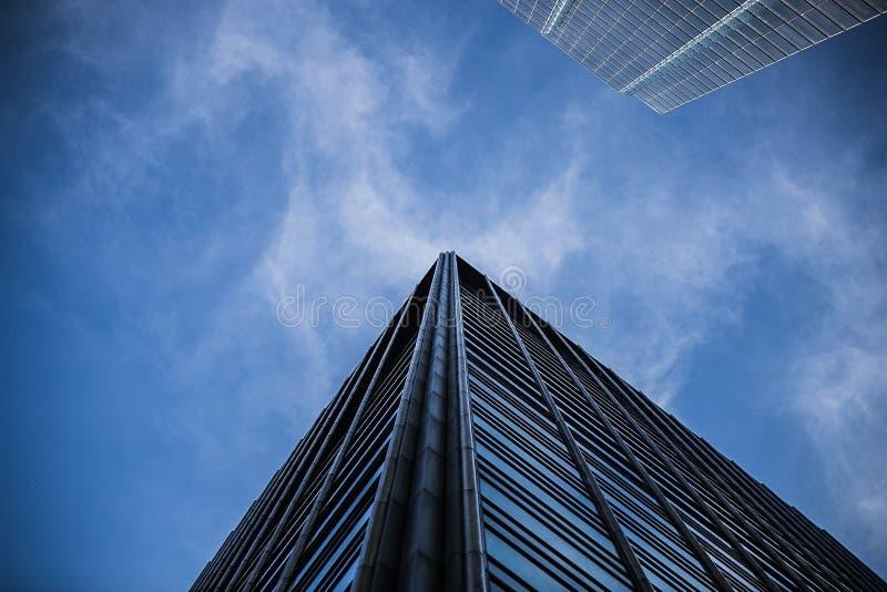 Construção do arranha-céus de Chicago fotos de stock royalty free
