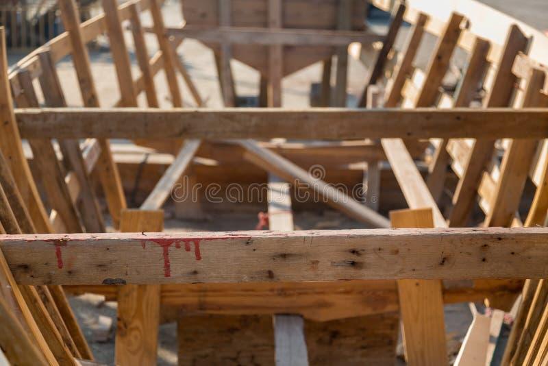 Construção do barco ou do dhow de Fishermans imagem de stock royalty free