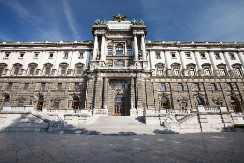 Construção do Burg de Neue, parte do palácio imperial de Hofburg em Viena fotos de stock royalty free