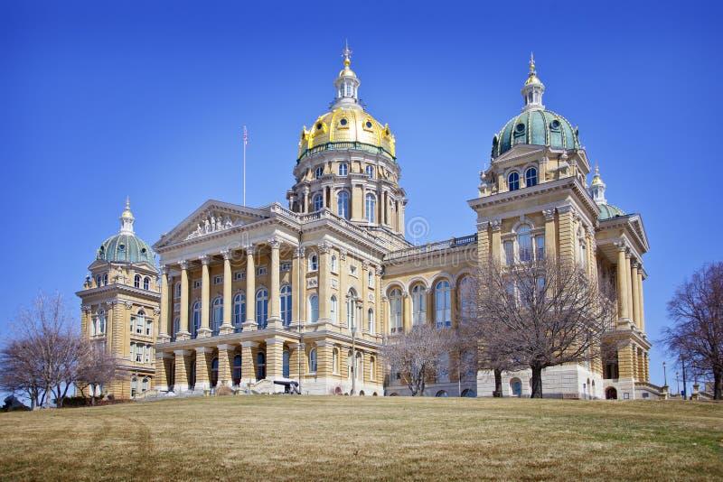 Construção do Capitólio do estado de Iowa imagens de stock