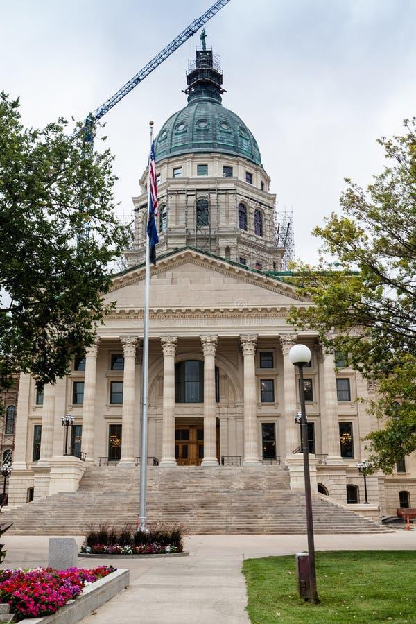 Construção do Capitólio do estado de Kansas, Topeka imagens de stock