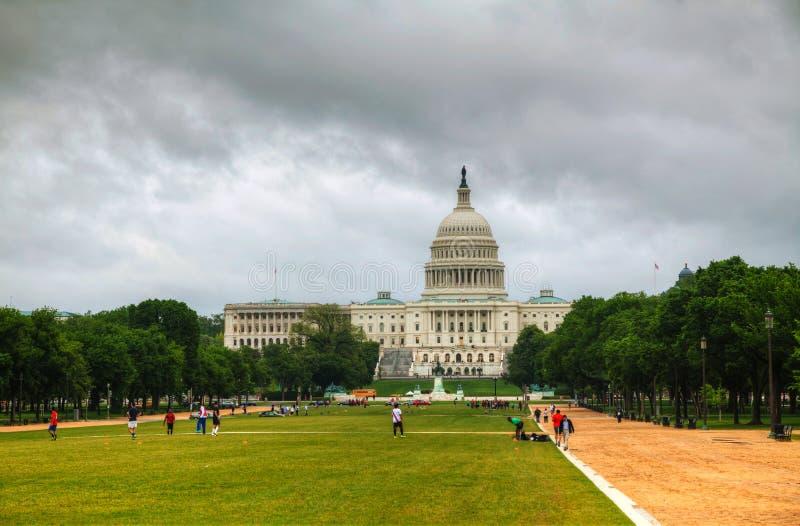 Construção do Capitólio do Estados Unidos em Washington, C.C. imagem de stock