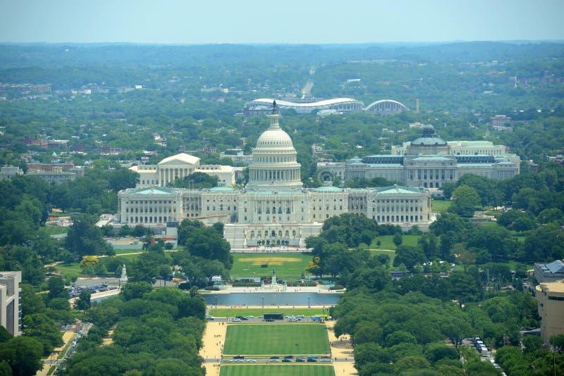 Construção do Capitólio do Estados Unidos no Washington DC, EUA foto de stock royalty free