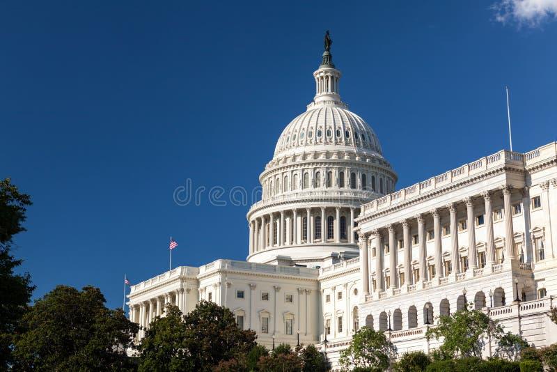 Construção do Capitólio do Estados Unidos, Washington, C.C. fotos de stock royalty free