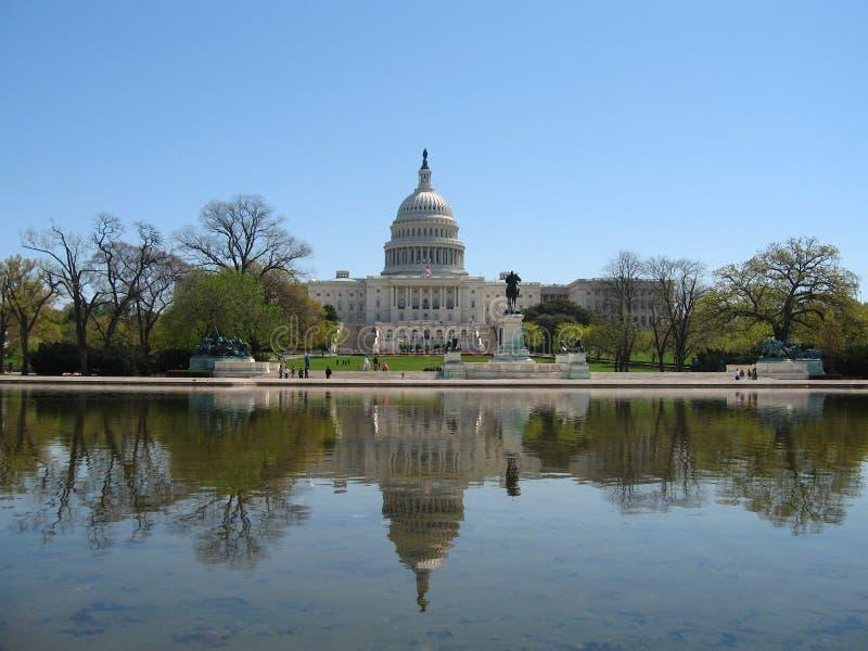 Construção do Capitólio do Estados Unidos, Washington DC - imagem conservada em estoque fotografia de stock royalty free