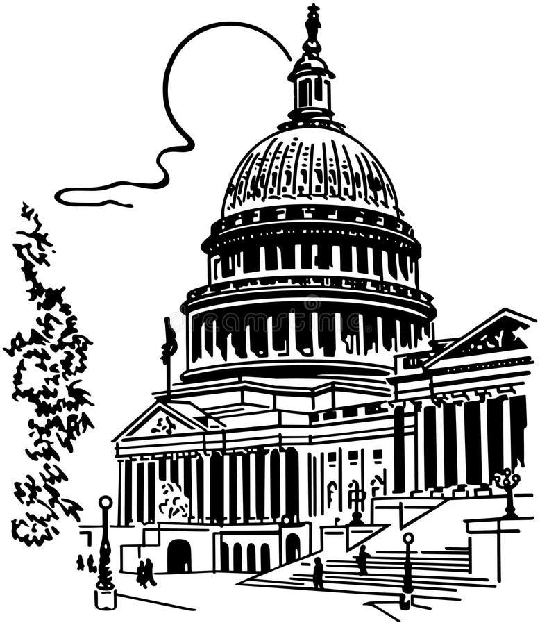 Construção do Capitólio dos E.U. ilustração royalty free