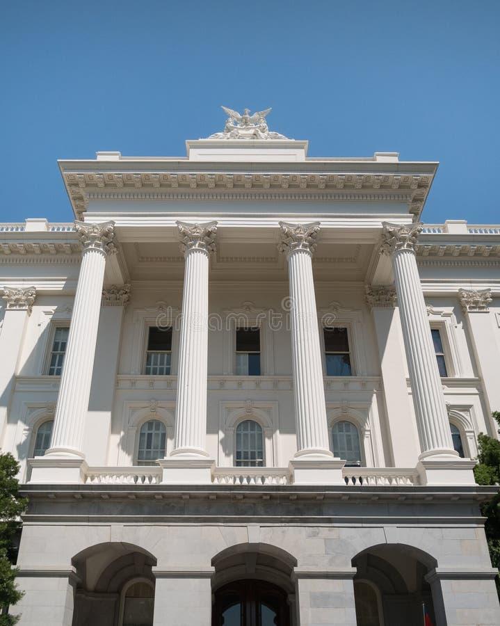 Construção do Capitólio do estado, Sacramento, Califórnia imagem de stock