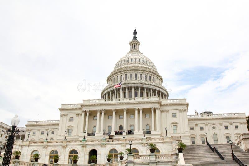 Construção do Capitólio do Estados Unidos no Washington DC, EUA Congresso de Estados Unidos imagens de stock