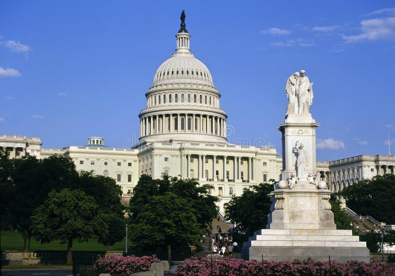 Construção do Capitólio - Washington DC - Estados Unidos imagens de stock