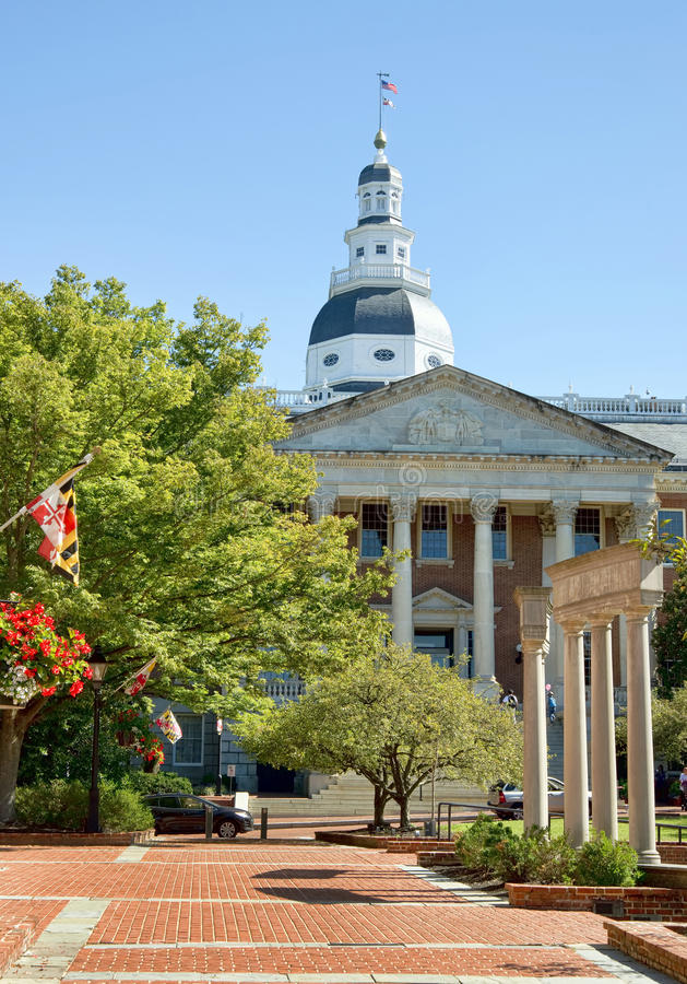 Construção do capital de estado de Maryland imagem de stock