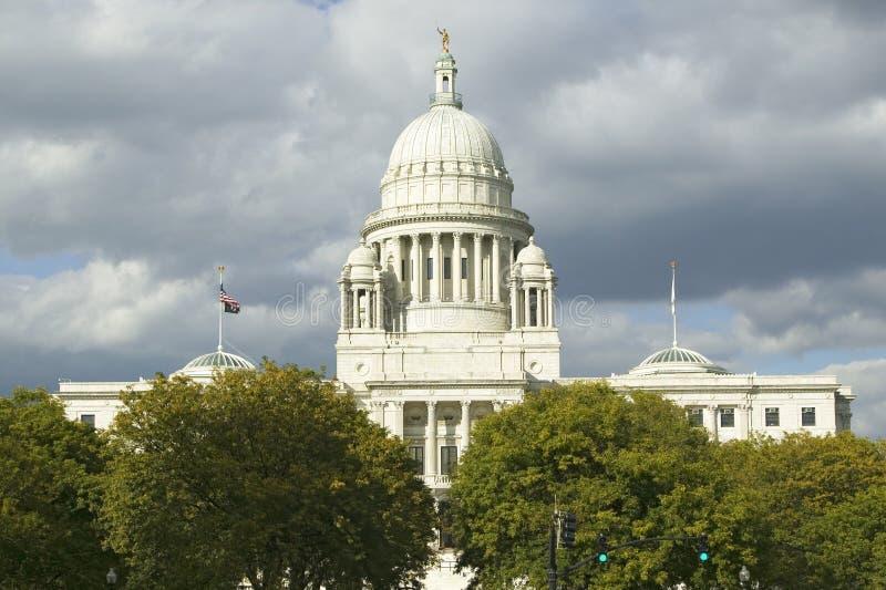 Construção do capital de estado do providência Rhode - ilha imagens de stock
