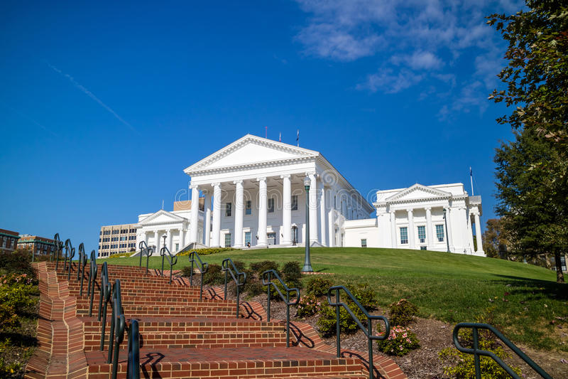 A construção do capital de estado em Richmond Virginia fotos de stock