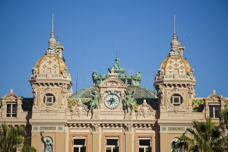 Construção do casino em Monte - Carlo em Mônaco foto de stock
