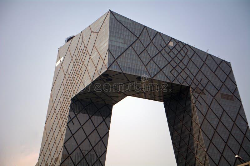 Construção do CCTV, Pequim, China fotografia de stock