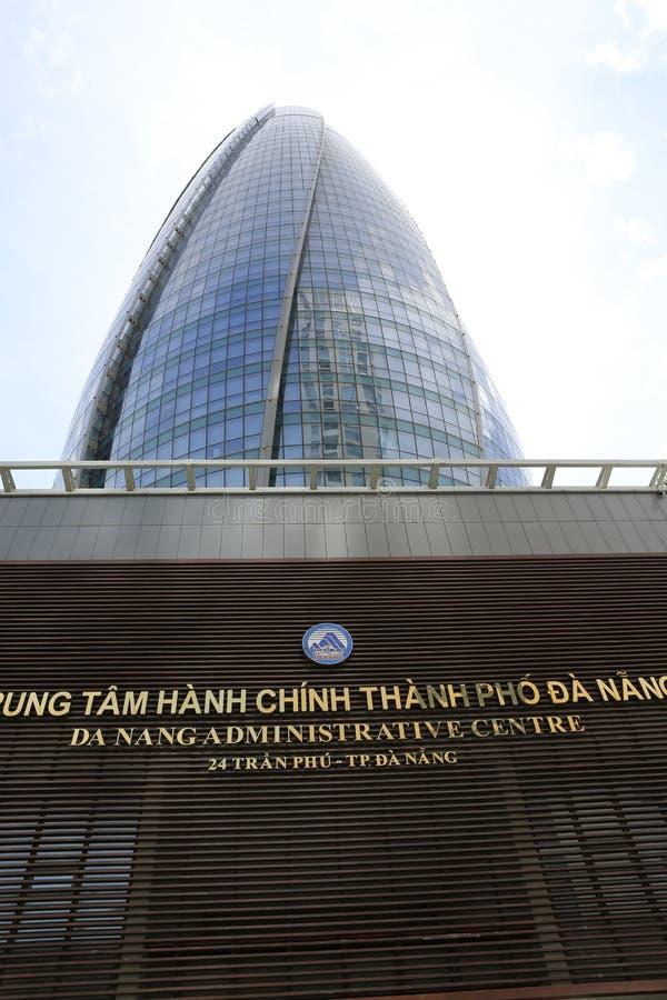 Construção do centro da administração de Danang fotografia de stock