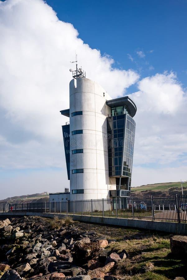 Construção do centro de controle de transporte de Aberdeen no cais norte fotografia de stock royalty free