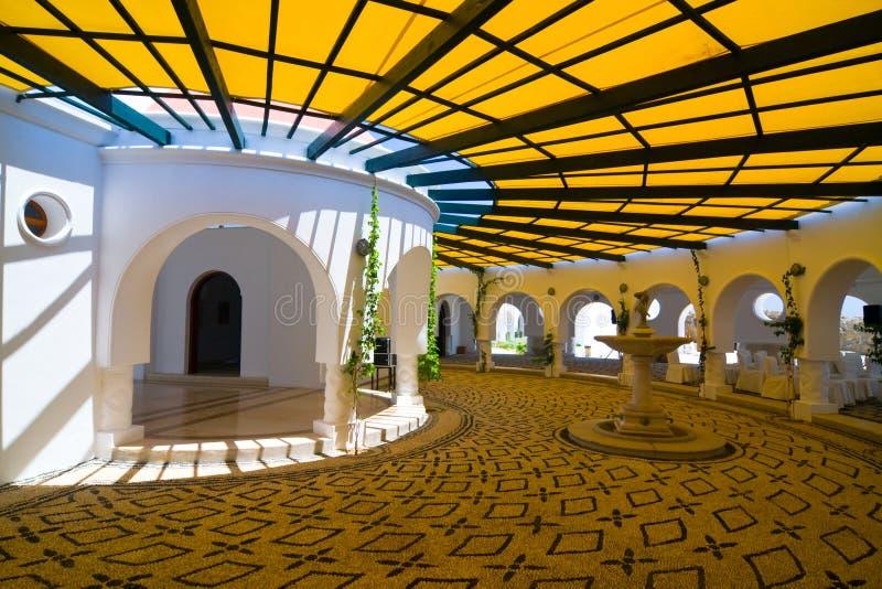 Construção do centro dos termas de Kalithea no Rodes. Grécia imagem de stock royalty free
