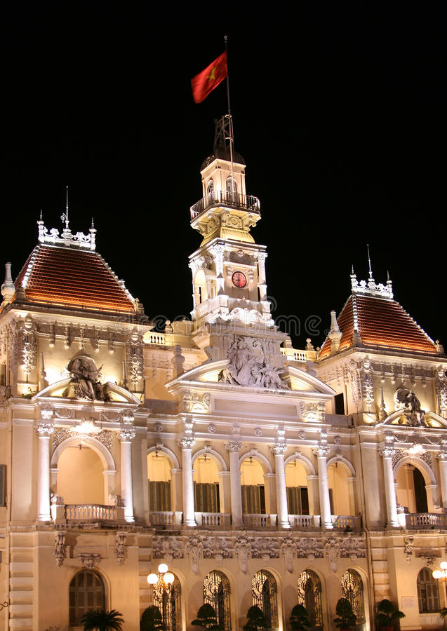Construção do comitê do pessoa em Ho Chi Minh City fotografia de stock